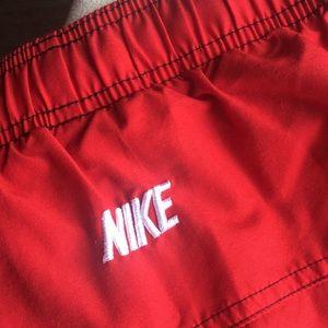 Nike Swim - Nike red men's swim trunks size L